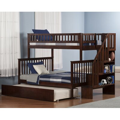 Atlantic Furniture Woodland Twin Over Full with Twin Trundle