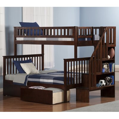 Atlantic Furniture Woodland Twin over Full Bunk Bed with Storage