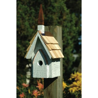 Heartwood classic chapel birdhouse reviews wayfair for Classic bird houses