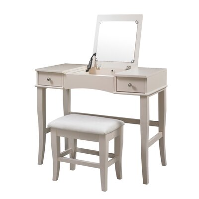 Linon Jackson Vanity Set with Mirror