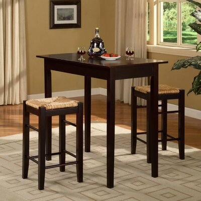 August Grove Russell 3 Piece Counter Height Dining Set