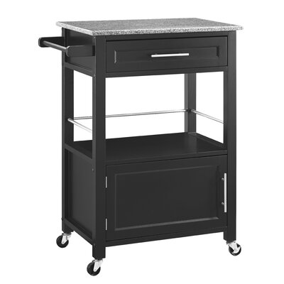 Wade Logan Harvey Kitchen Cart with Granite Top