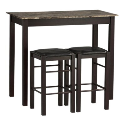 Charlton Home Prosser 3 Piece Counter Height Dining Set