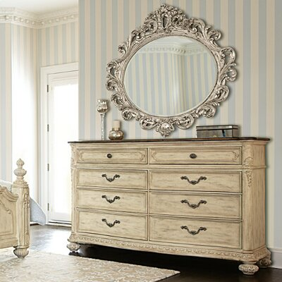 American Drew Jessica Mcclintock Boutique 8 Drawer Dresser with Mirror