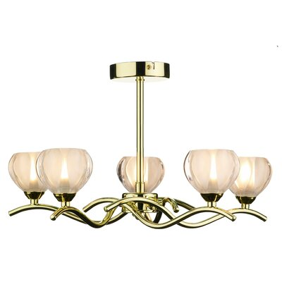 Dar Lighting Cynthia 5 Light Candle Style Chandelier
