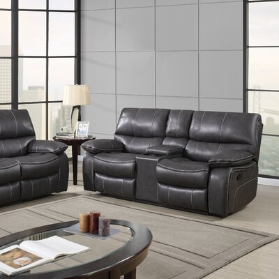 Global Furniture USA Console Reclining Loveseat