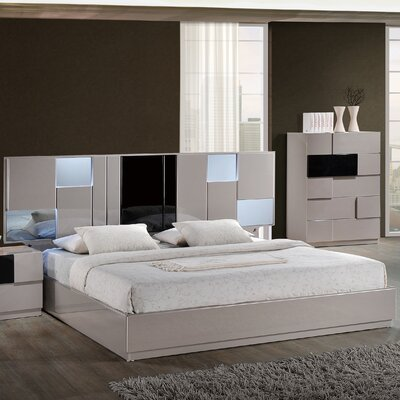 Global furniture usa bianca panel customizable bedroom set for Bedroom furniture usa