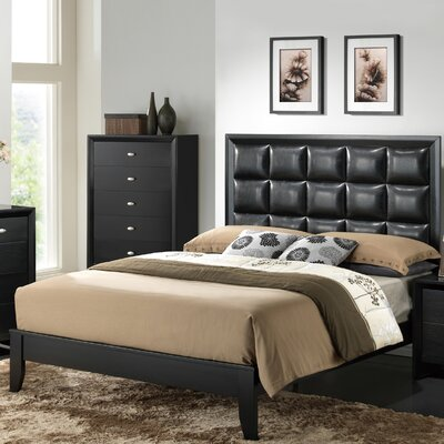 Global Furniture USA Carolina Upholstered Panel Bed