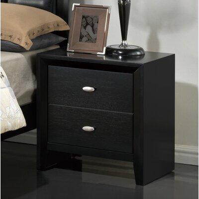 Global Furniture USA Carolina 2 Drawer Nightstand