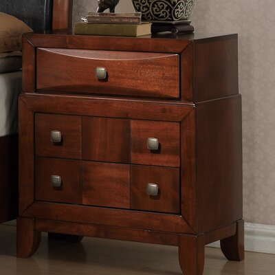 Global Furniture USA Oasis 3 Drawer Nightstand
