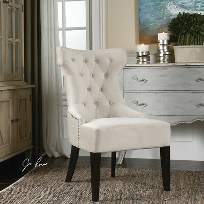 Uttermost Arlette Tufted Wing Side Chair