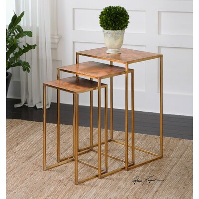 Uttermost Copres 3 Piece Oxidized Nesting Table Set