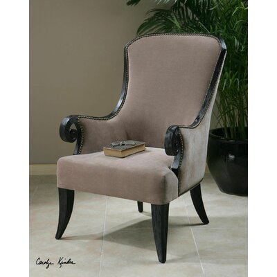 Uttermost Kandy Taupe Arm Chair
