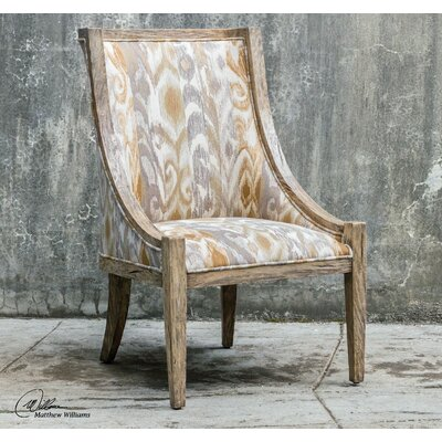 Uttermost Alabaster Driftwood Accent Side Chair