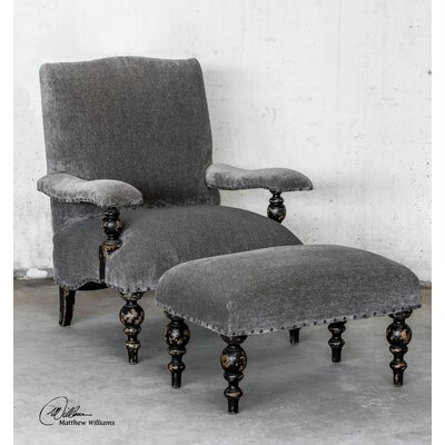Uttermost Eavan Chenille Arm Chair