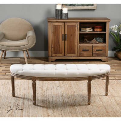 Uttermost Leggett Upholstered Bedroom Bench