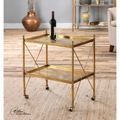 Uttermost Amaranto Serving Cart