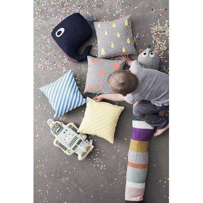 ferm living whale cotton throw pillow reviews wayfair. Black Bedroom Furniture Sets. Home Design Ideas