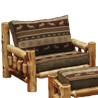 Fireside Lodge Cedar Chair-and-a-Half