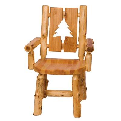 Fireside Lodge Traditional Cedar Log Cut Out Arm Chair