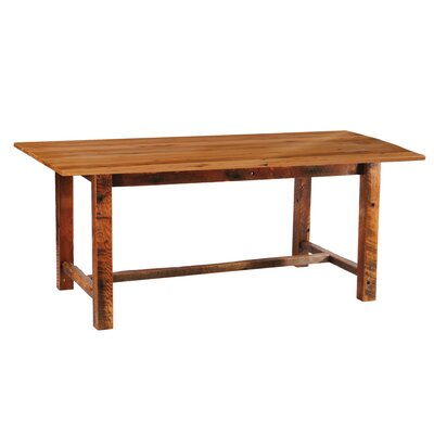 Fireside Lodge Reclaimed Barnwood Rectangle Dining Table