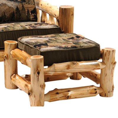 Fireside Lodge Cedar Chair Ottoman Image