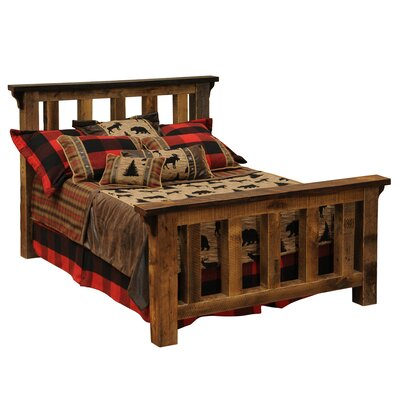Fireside Lodge Barnwood Panel Bed