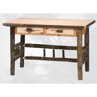 Fireside Lodge Hickory 2 Drawer Writing Desk
