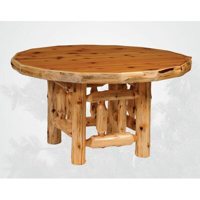 Fireside Lodge Traditional Cedar Log Round Dining Table