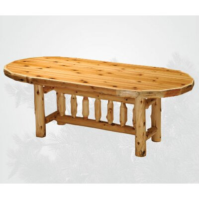 Fireside Lodge Traditional Cedar Log Oval Dinin..