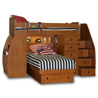 Berg Furniture Sierra Twin L-Shaped Bunk Bed wi..
