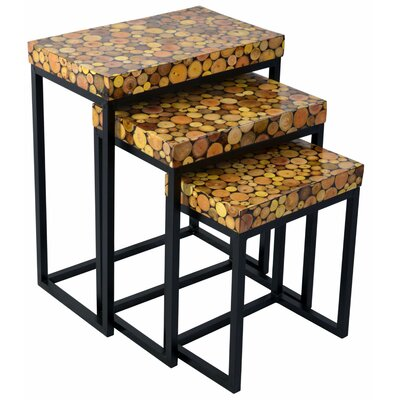 Loon Peak Fris 3 Piece End Table Set