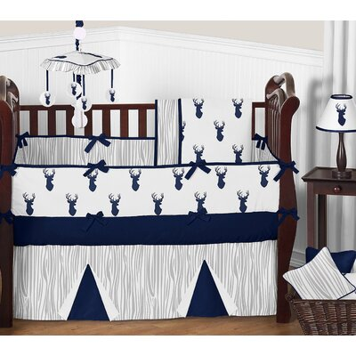 Pc Crib Bedding Set Deer