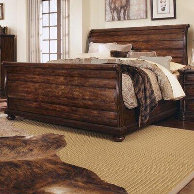 ART Whiskey Oak Queen Sleigh Bed Reviews Wayfair