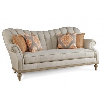 One Allium Way Flores Upholstered Brewster Channel Back Sofa