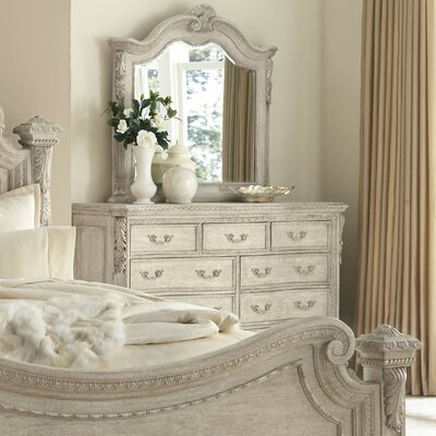 Astoria Grand Schwerin 9 Drawer Dresser with Mirror
