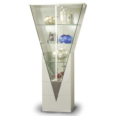 Chintaly Imports Curio Cabinet with Mirrored Interior