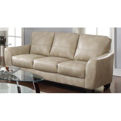Latitude Run Krystal Leather Sofa