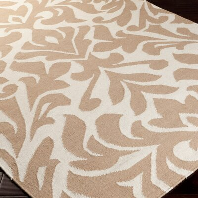 Candice olson market place praline white brown area rug for Candice olson area rugs