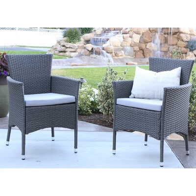 Angelo home baxter dining arm chair with cushion reviews wayfair Angelo home patio furniture