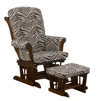 Cotton Tale Sumba Small Zebra Print Glider with Ottoman