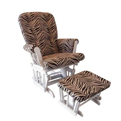 Cotton Tale Sumba Zebra Print Glider and Ottoman