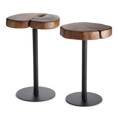 Laurel Foundry Modern Farmhouse Darien 2 Piece Timber End Table Set