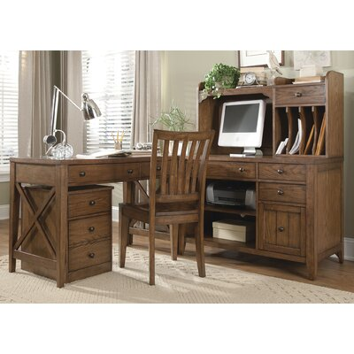 Liberty Furniture Hearthstone 5-Piece L-Shape Desk Office Suite