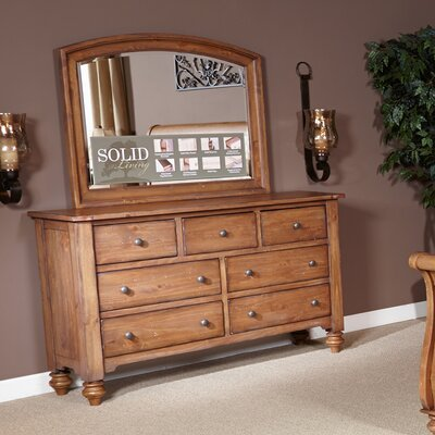 Liberty Furniture 7 Drawer Dresser with Mirror