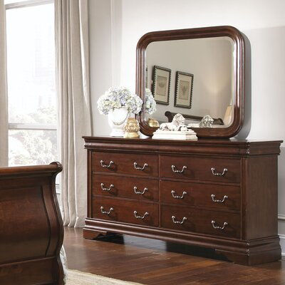 Liberty Furniture Carriage Court 8 Drawer Dresser with Mirror