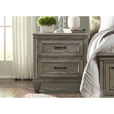 August Grove Grace 2 Drawer Nightstand