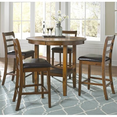 Darby Home Co Dunlap 5 Piece Pub Table Set