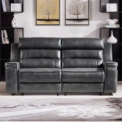 Diamond Sofa Duncan Leather Dual Reclining Sofa