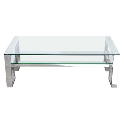 Diamond Sofa Carlsbad Coffee Table with Magazine Rack